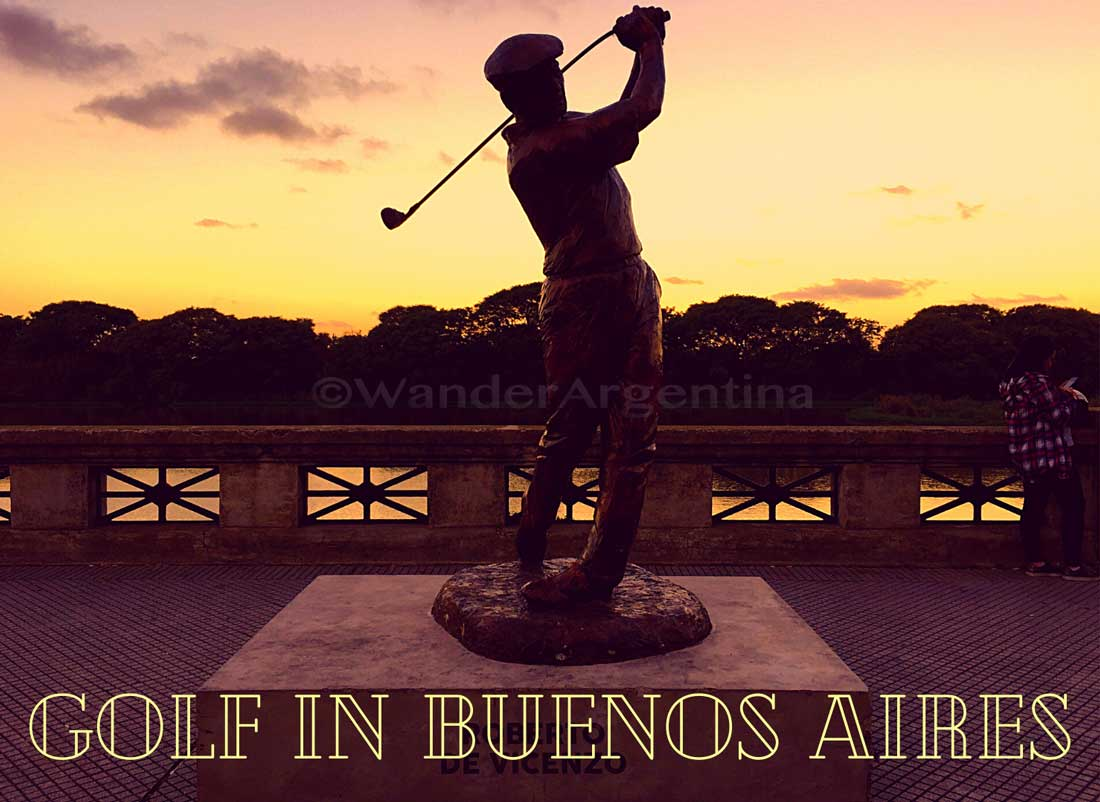 Silloutte of golfer , Buenos Aires