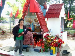 A shrine of Gauchito Gil, 'the cowboy saint' in Buenos Aires, Argentina