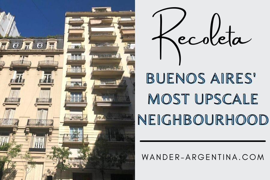 Recoleta neighbourhood in Buenos Aires