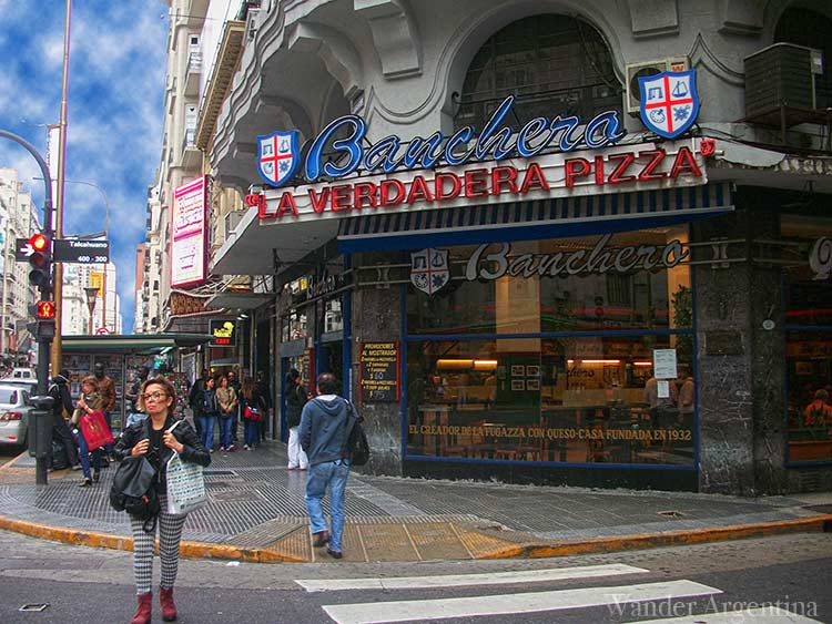 Banchero pizza restaurant on Corrientes Avenue in Buenos Aires