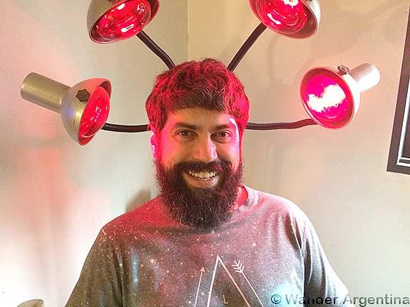 Hairstylist, Daniel Diaz smiling in his home salon