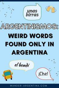 Argentntinismos, weird words only found in Argentina