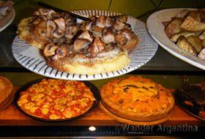 Plates of healthy food at Patatas Bravas restaurant