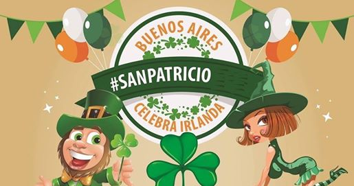 Information about the 2017 St. Patrick's Day (Día de San Patricio) parade in Buenos Aires, Argentina