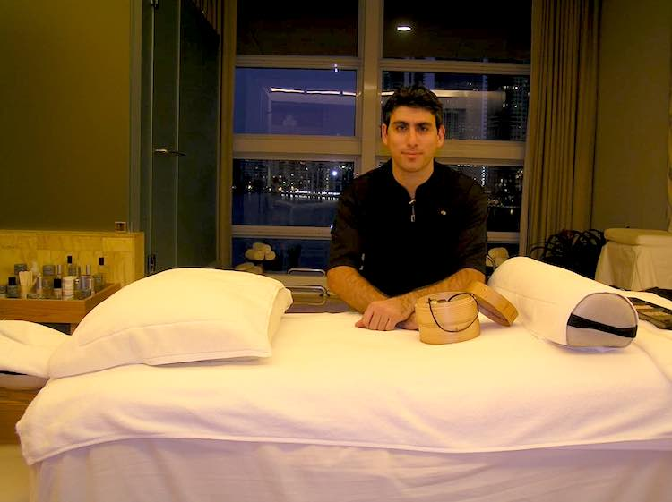 Pablo Gonzales, a US-trained massage therapist who does out-calls in Buenos Aires.