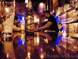 The bar at Krakow pub in San Telmo, Buenos Aires