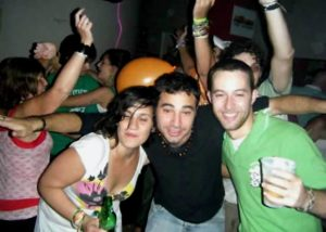 Visitors party at the Buenos Aires Milhouse Hostel on St. Patrick's Day