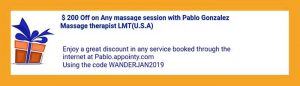 Massage in Buenos Aires, book a massage online with Wander Argentina using coupon code WANDERJAN2019