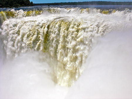 The powerful and large waterfall, the Devil's Throat at Iguazu Falls, Argentina