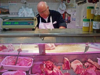 A neighborhood butcher in Buenos Aires, Argentina