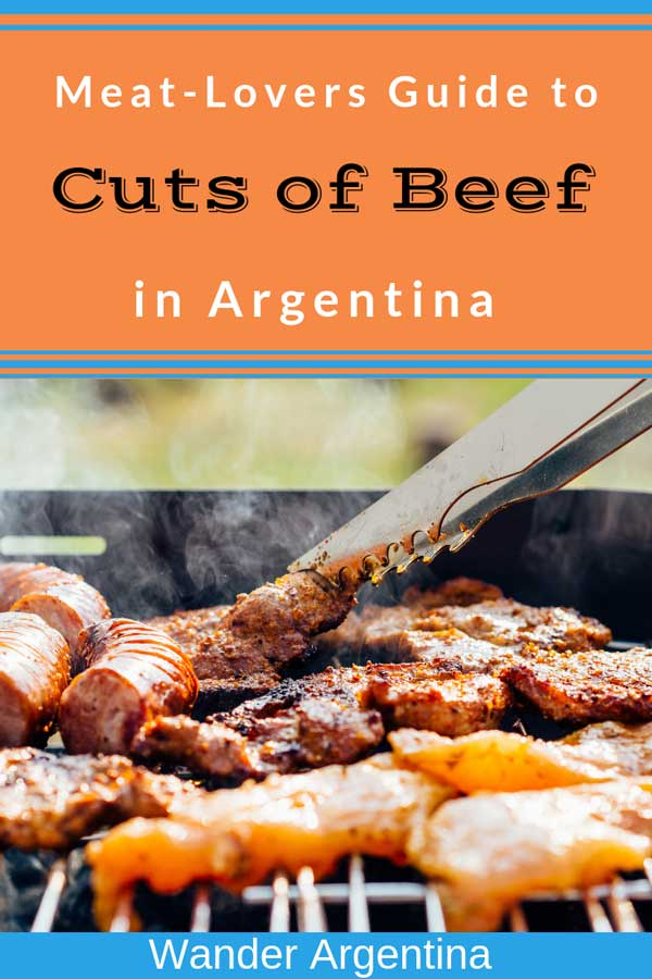 A barbecue grill, or parilla, as it's known in Argentina with the words 'Meat Lovers Guide to Cuts of Meat' in Argentina -Wander Argentina