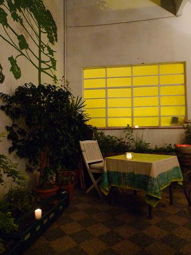 The patio at Casa Felix, a puerta cerrada in Buenos Aires