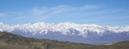 The Andes mountains as seen from Mendoza