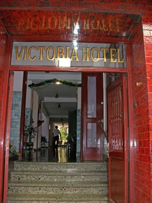 The entrance to San Telmo's famous and historic Victoria Hotel