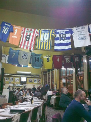 The interior of the Buenos Aires restaurant, Cantina Los Amigos