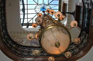 The decadent lobby of San Telmo's Mansion Royal Dandi hotel