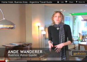 Screen shot of a video visit to Buenos Aires' Home Hotel