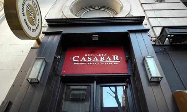 The exterior of Casabar in Recoleta, Buenos AIres