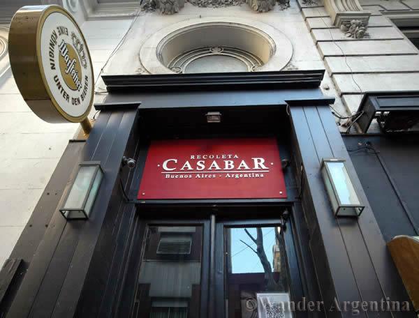 Exterior of Casa Bar in Recoleta Buenos Aires