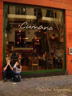 The exterior of Cumana restaurant in Recoleta, Buenos Aires