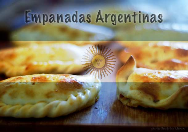 Empanadas Argentinas with the Argentine flag