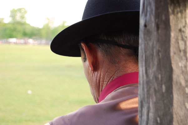 The weathered neck of an old gaucho in the Argentine pampa town of San Antonio de Areco