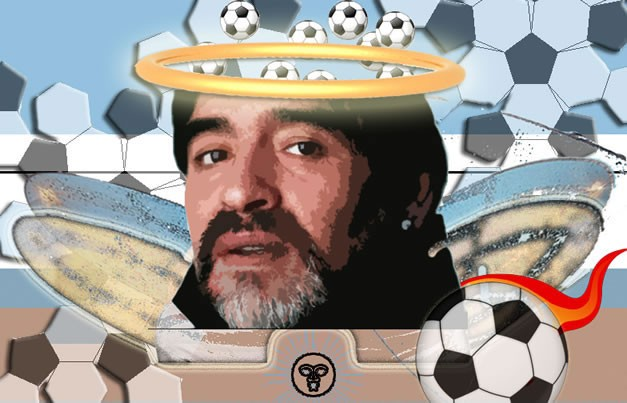 Diego Maradona, the world famous Argentina soccer star who died November 25, 2020