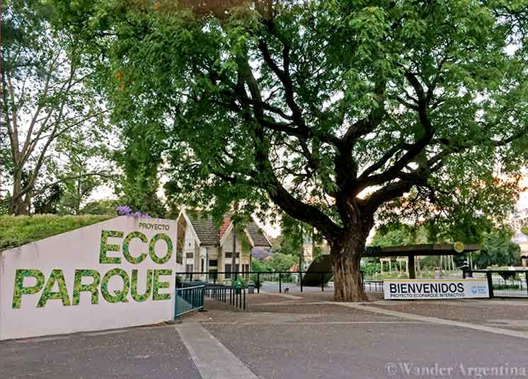 The Entrance to Buenos Aires' Ecopark, located in the former BUenos Aires zoo in the Palermo neighborhood of Buenos Aires