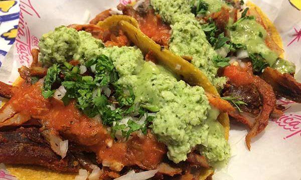 Tacos with corn tortillas at San Telmo Buenos Aires' La Fabrica del Taco