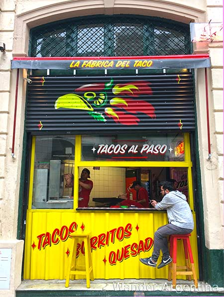 A taco stand in San Telmo, Buenos Aires