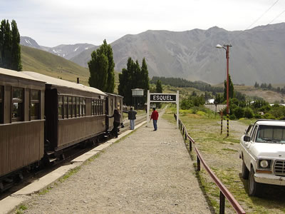 The train leading out of Esquel, Chubut Argentina