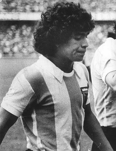 Diego Maradona in the early days source: wikipedia
