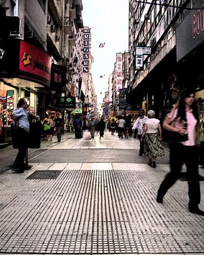 A view along Buenos Aires Florida Street