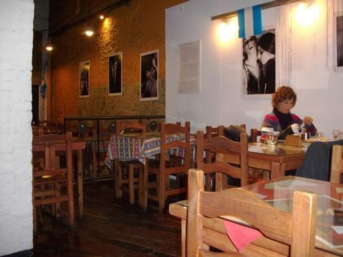 The interior of the San Telmo restaurant, La Carretería, in Buenos Aires, Argentina