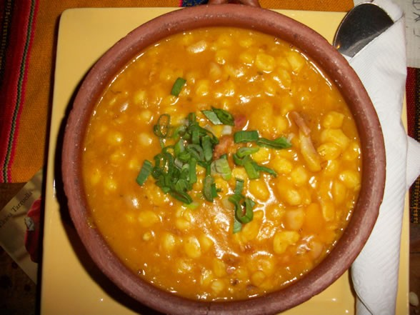 A bowl of locro from the San Telmo restaurant, La Carreterria in Buenos Aires