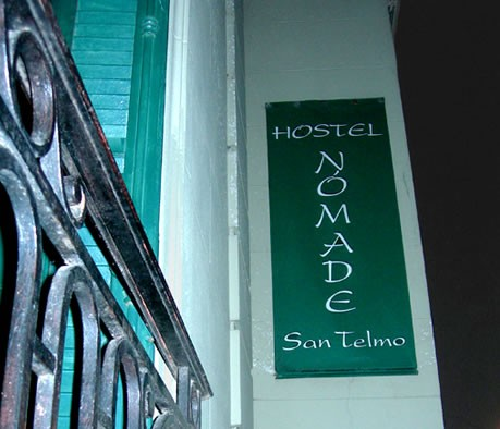 The outside of Hostel Nomade in San Telmo, Buenos Aires