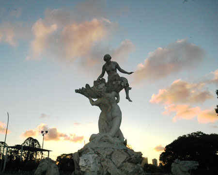 The Water Nymphs' Fountain, by Argentine sculptor, Lola Mora is one of Buenos Aires' most marvelous outdoor sculptures