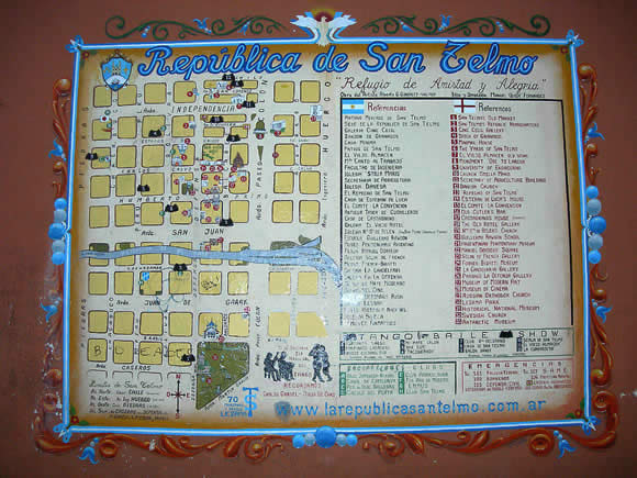 The 'Republic of San Telmo' -- A map of the neighborhood