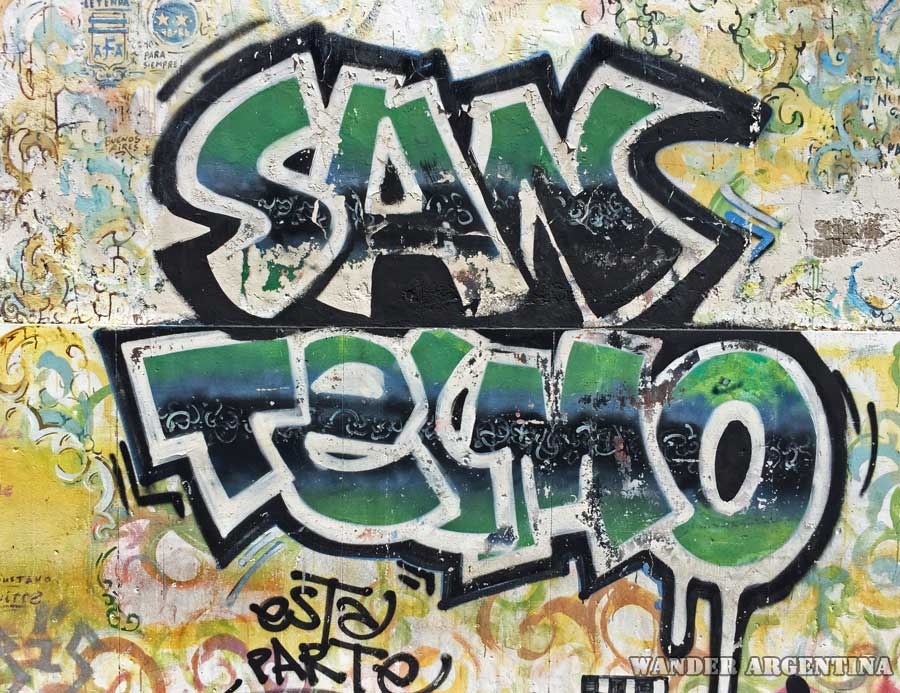 San Telmo written in graffiti