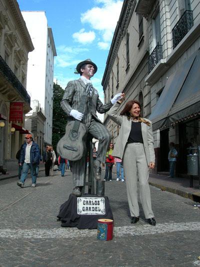 Carlos Gardel in San Telmo