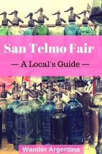 San Telmo Fair: A locals guide. Picture of colorful glass siphons
