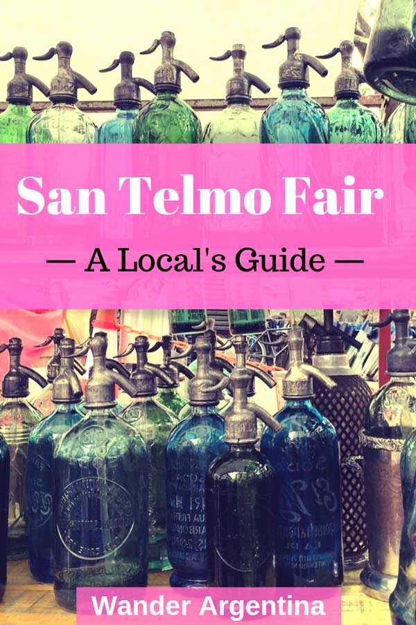 San Telmo Fair, Buenos Aires: A locals guide. Picture of colorful glass siphons