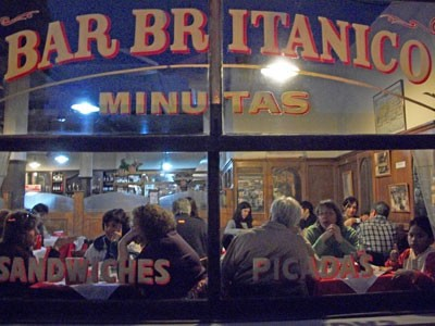 Buenos Aires Bar' Britanico from the outside. One of San Telmo's most famous locations, it was featured in the film, Motorcycle Diaries.