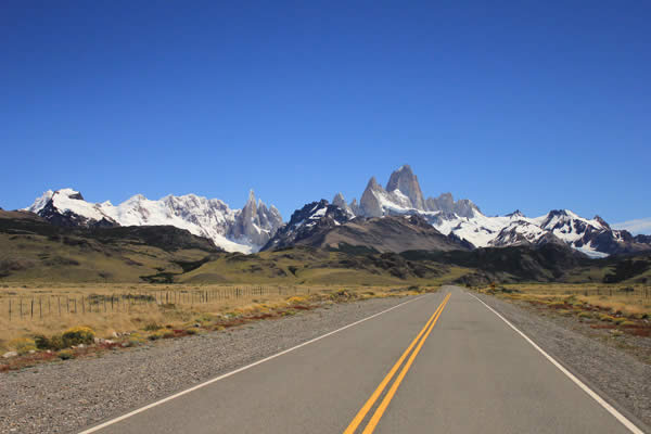 Cerro Fitz Roy, El Chalten, Argentina as seen from the highway