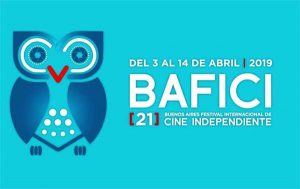 Logo of the Buenos Aires International Independent Film Festival 2019 edition, which runs from the 3 of April until the 14th in various locations around the city inBuenos Aires, Argentina