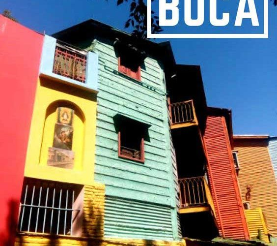 Colorful houses in La Boca, Buenos Aires most famous immigrant neighborhood