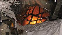 the exterior of La Cueva restaurant in Bariloche, Argentina