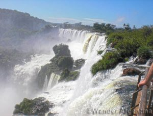 Iguazu Falls as seen from the Iguazú National Park in Argentina