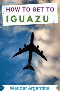 How to get to Iguazu with an airplane flying in the sky. Wander Argentina