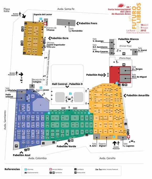 map of the feria del libro